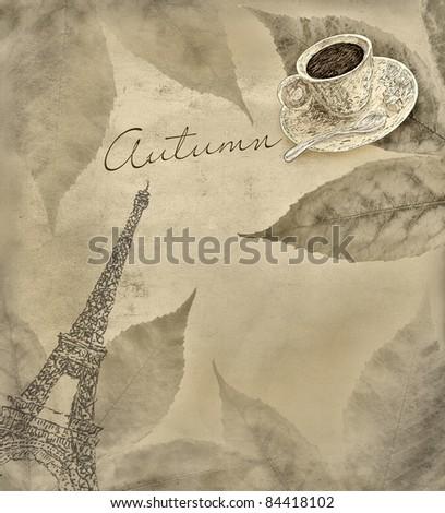 Autumn coffee - stock photo
