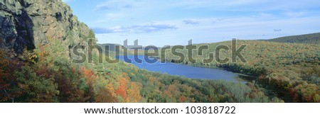 Autumn color at Porcupine State Park, Michigan's Upper Peninsula, Michigan
