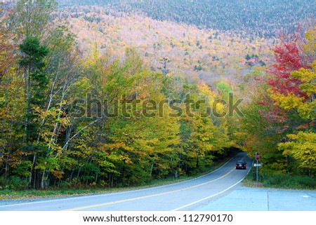 Autumn color change in Stowe, Vermont