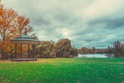 Autumn Color of Regents Park in London