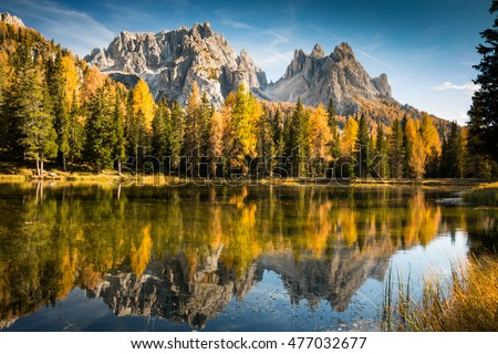 autumn colorful dolomites...