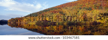 Autumn colors along Connecticut River, Brattleboro, Vermont