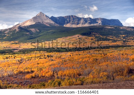Autumn Colors in Glacier National Park, Montana, America