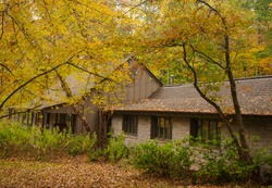 Autumn colors surround the Catoctin Mountain Park Visitor Center during late October.