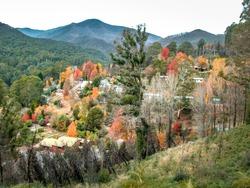 Autumn colours at Bogong Village, Australia