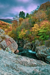 Autumn colours from the Pass of Killiecrankie, Scotland