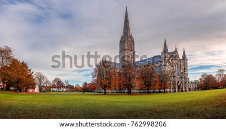Shutterstock Autumn day at Salisbury Cathedral, England