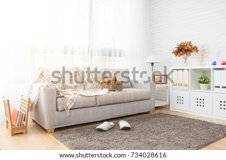 autumn decoration living room with nobody no people for copy space background #734028616