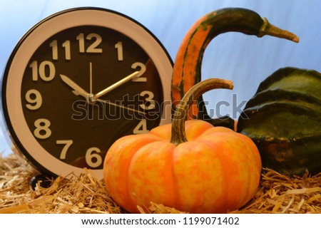 Autumn decorative scenery to illustrate for halloween, thanksgiving or just fall designs. #1199071402