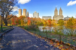 Autumn foliage in Central Park, New York