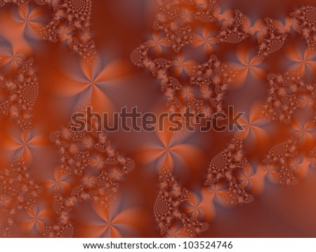 Autumn Garden/Digital abstract image with a flower design in orange pink.