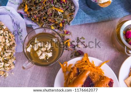Autumn herbal tea on the table Сток-фото ©
