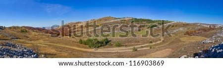 autumn hills panorama