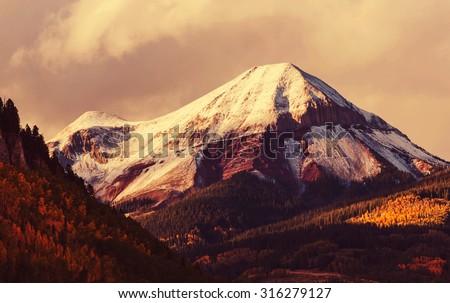 Autumn in Colorado mountains #316279127