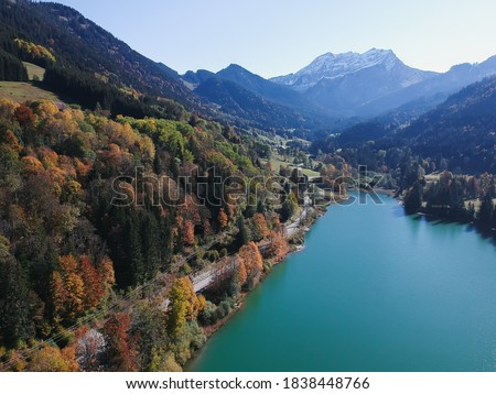 Autumn in France, Thonons les Bains. Photo stock ©