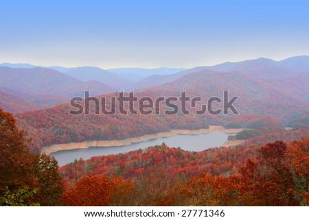 Autumn in Great Smoky Mountains - stock photo