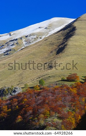 Autumn in italy mountain