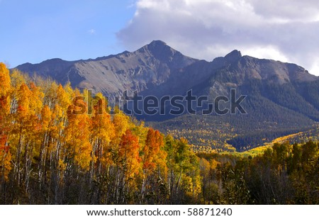 Autumn in rocky mountains