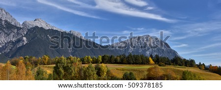 Autumn in the alps, Austria around the village Sillian