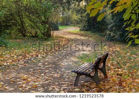 Autumn in the chateau park. Lesna u Val.Mez. Východní Morava. Česko. Evropa. Stock fotó ©