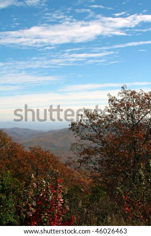 autumn in the mountains of western north carolina