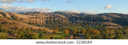 Autumn in the valley. California. Panorama  (#35) - stock photo