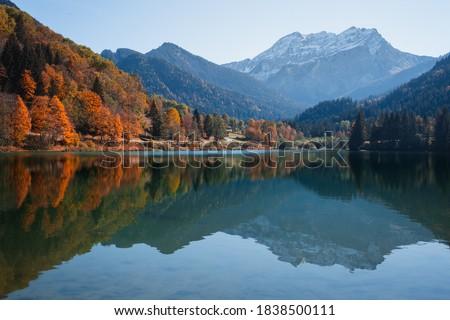 Autumn in Thonons Les Bains in France. Zdjęcia stock ©