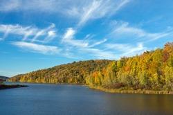 Autumn Lake at Prompton State Park in Pennsylvania