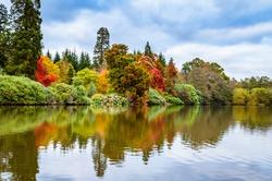Autumn landscape in Sheffield Park Garden