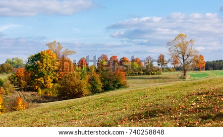 autumn landscape with fall...