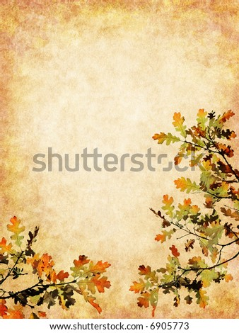 Autumn leaves on a textured background.