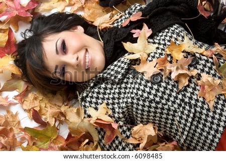 Autumn Leaves Woman
