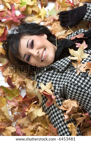Autumn Leaves Woman