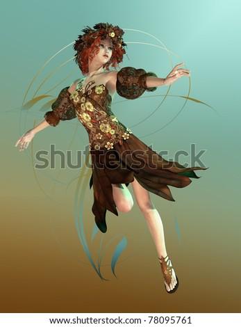 stock photo : Autumn Maid