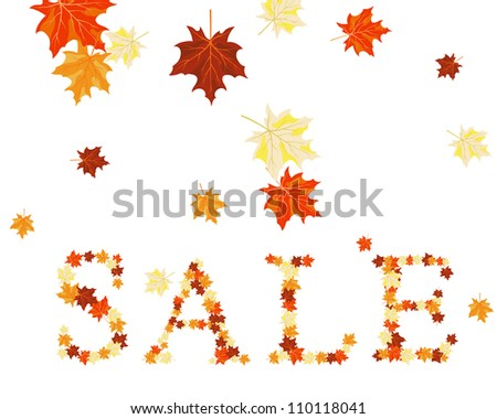 Autumn maples leaves sale word.