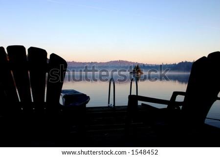 Autumn Morning Mist-outside Algonquin Park, ON Canada