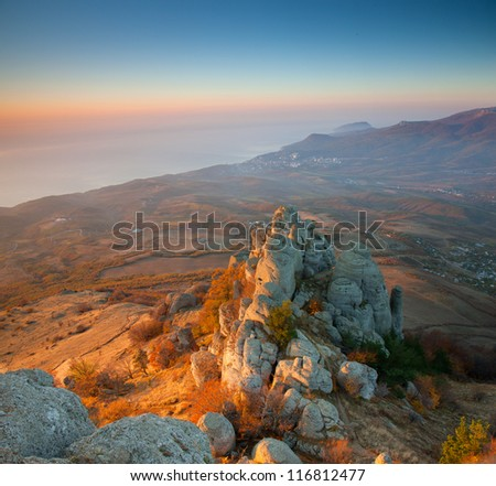 Autumn mountain.Demerdji, Crimea, Ukraine