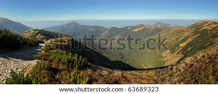 Autumn Mountain panorama in High West Tatras - Rohace , Slovakia