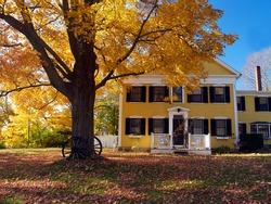 Autumn, old house