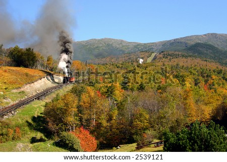 Autumn on Mount Washington - Cog Railway