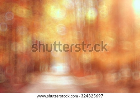 Autumn Park unfocused background
