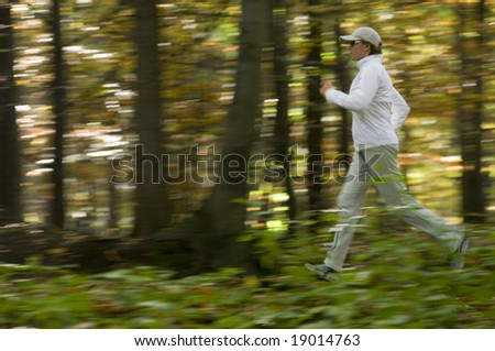Autumn running - stock photo