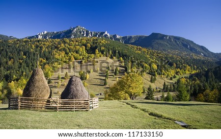 autumn rural mountain landscape in Romania