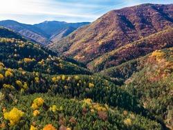 Autumn scene near Fanlo village close to Ordesa and Monte Perdido National Park, Huesca province, Spain