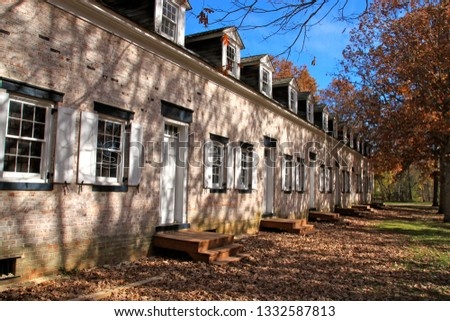 Autumn scenery at the Historic Village of Allaire in Wall Township, New Jersey