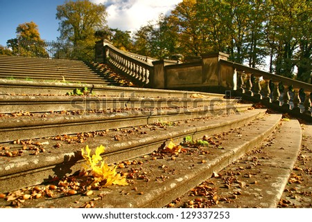 Autumn stairs in Berlin
