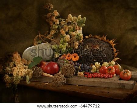 Autumn Still Life - stock photo