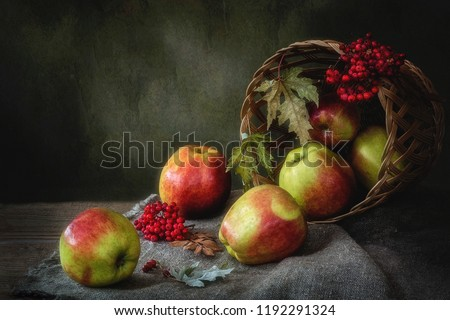 Autumn still life in a country house #1192291324