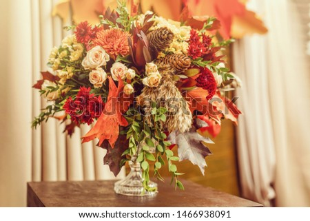 Autumn still life with flowers