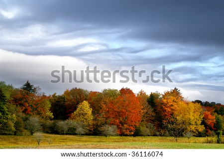 Autumn Storm Clouds Horizontal With Copy Space